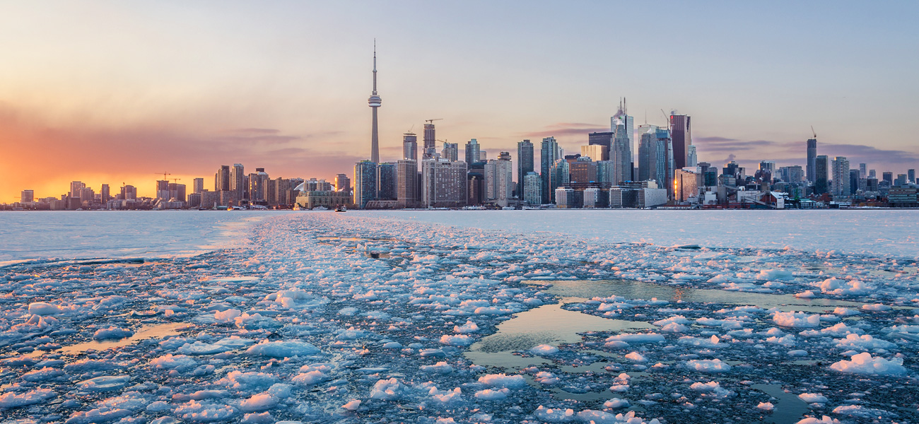 winter in toronto.